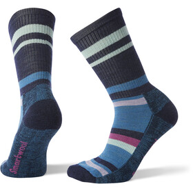Smartwool Hike Striped Light Crew Socks Women Deep Navy